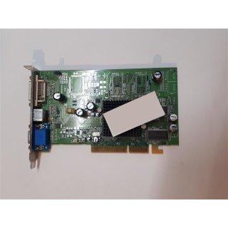 ATI Radeon 9600SE 128MB Grafikkarte TV-Out DVI Passive Kühlung