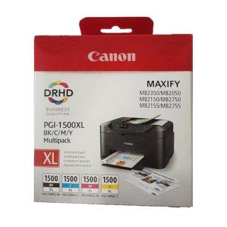 Canon PGI-1500XL Multipack 9182B004 Original Druckerpatronen schwarz cyan magenta gelb