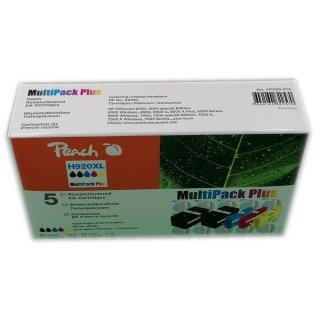 H920XL Multipack Plus von Peach, 2xblack, 1x jeweils Magenta, Cyan, Yellow